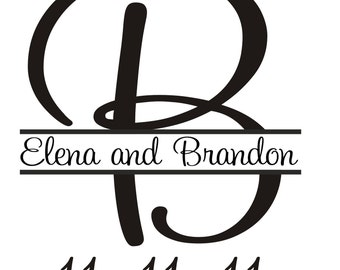 large custom monogram rubber stamp 6 inches Giant Monogram stamps