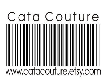 Custom barcode rubber stamp customized with your info on it Clear Block