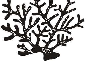 CORAL REEF Rubber stamp