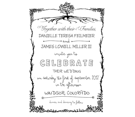 Wedding Invitation Rubber Stamps: Items Similar To Wedding Invitation Rubber Stamp Custom