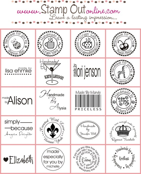 Custom Handmade By Rubber Stamp Personalized Signature Stamp
