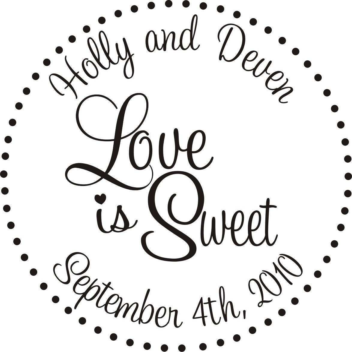 Wedding Rubber Stamps: Love Is Sweet Rubber Stamp Perfect For Wedding By