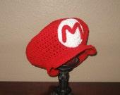 Mario Hat... - Newborn to Adult Sizes