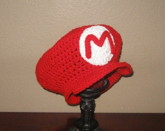 Mario Hat... - Newborn to Adult Sizes