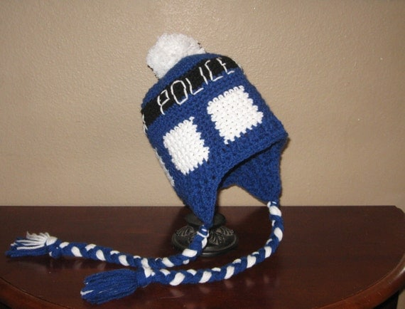 Tardis Earflap Beanie Hat - Dr. Who