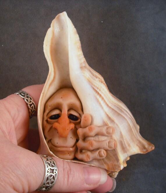 OOaK Hermit Shellfae Faery Oddfae Fairy by Schiller