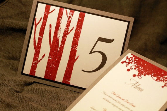Modern Rustic Table Number, Hand Stamped Table Cards, Woodland Wedding, Rustic Chic, Guest Seating, Wedding Reception, Weddings