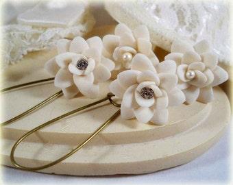 Pointed Petals Drop Earrings or Dangle Earrings
