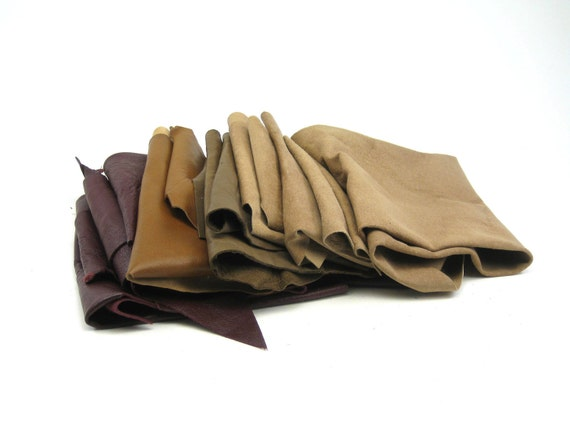 Leather Remnants - Browns