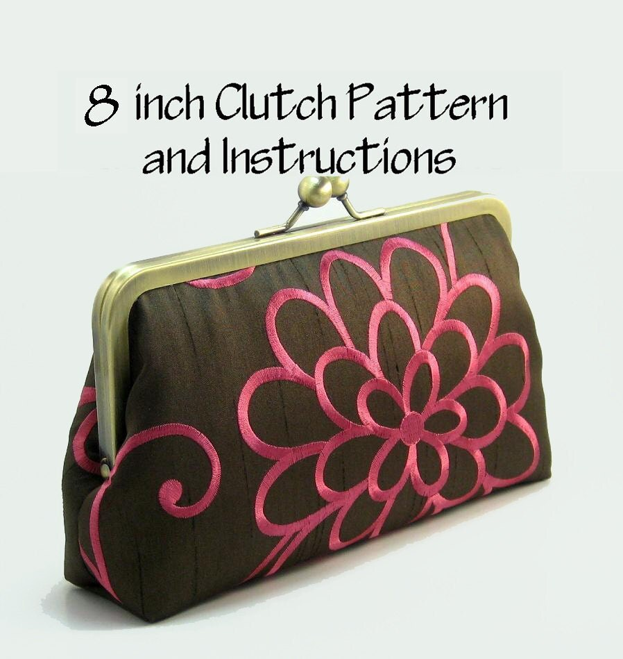 Patterned Purses : Purse Pattern PDF / Pattern and Instructions / Frame by Shnury