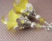 Lemon Drops Flower Earrings
