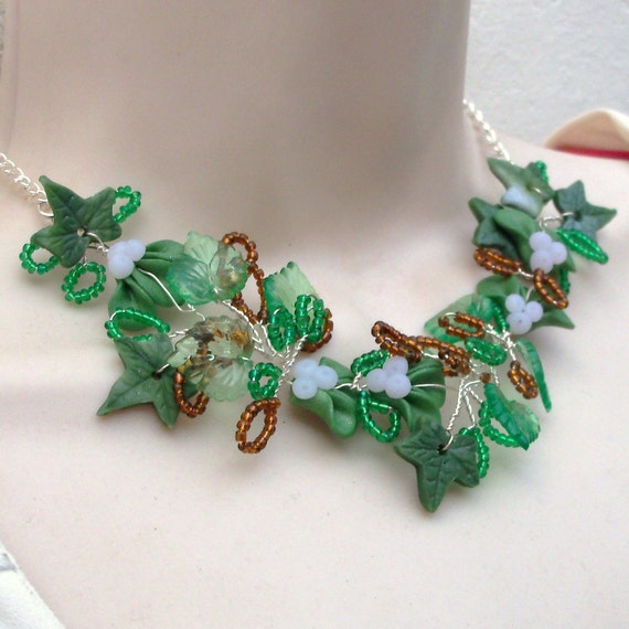 Mistletoe And Ivy Necklace Wire Wrapped