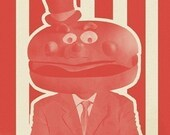 Re-elect McCheese campaign poster