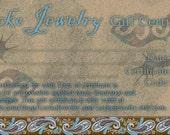 Gecko Jewelry Gift Certificate - 2