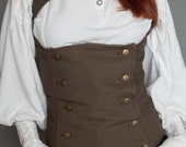 Saved for  Sara Caldwell Teasdale under-bust Vest Brown SIZE 8h (36x34x39)