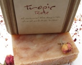 DeliciousTropics & Roses Vegan Soap 5 oz Grapefruit, Geranium, Cedarwood, Orange, Rosehip