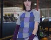 Purple Basketweave Tunic Large XLarge 1X