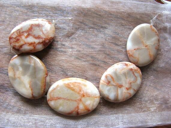 Redline Marble Beads