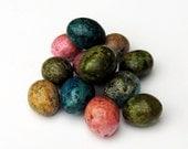 Egg Gourds 12 Bowl Filler Designer Olive Turquoise Pink Natural Purple, Vibrant Colors