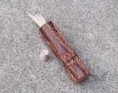 Groomsmens Gift Toothpick Case Jumbo Red Sparkle Rustic Portable Men Women Needle Case