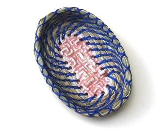 Ring Dish Basket Fragrant Sweetgrass Coiled Miniature Change Keys Rings