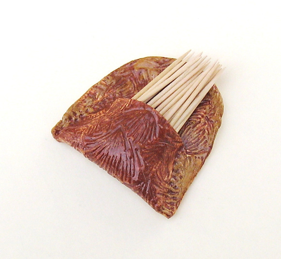 Toothpick holder ceramic wall pocket pottery vase kitchen - Toothpick holder pocket ...