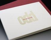 Odd But Not Criminal- Letterpress Card