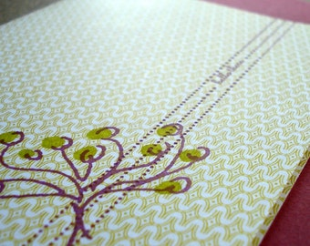 Hello There Letterpress Card (patterned)