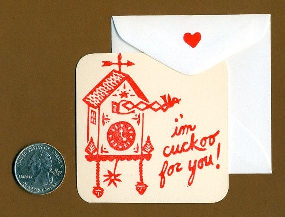 Cuckoo Clock Tiny Valentine