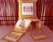 Heart Pillow and Table Runner