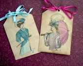 Classic Victorian Ladies Tags - Set of 2