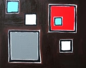 Bold Squares on Brown- Original Painting