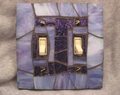 Stained Glass Mosaic Switch Plate Cover-Lavender and Purple