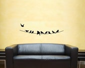 Vinyl Wall Decal - Birds on a Wire
