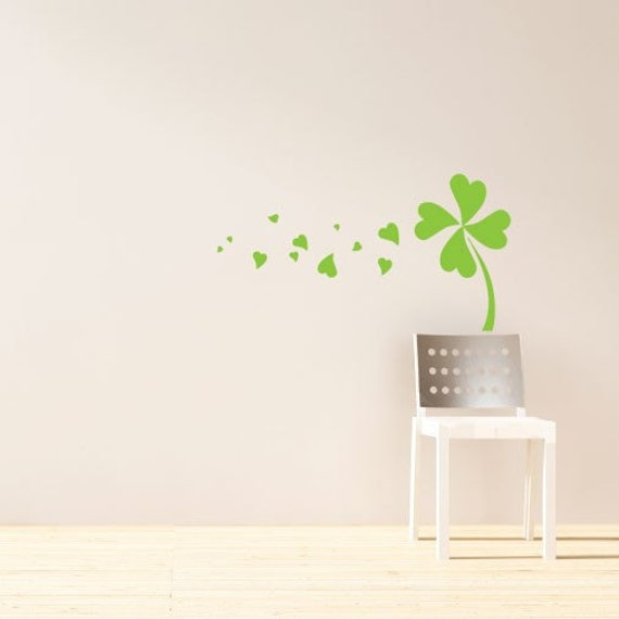 Run of Luck Shamrock -  - Vinyl Wall Decal Graphic Art Sticker Home Decor