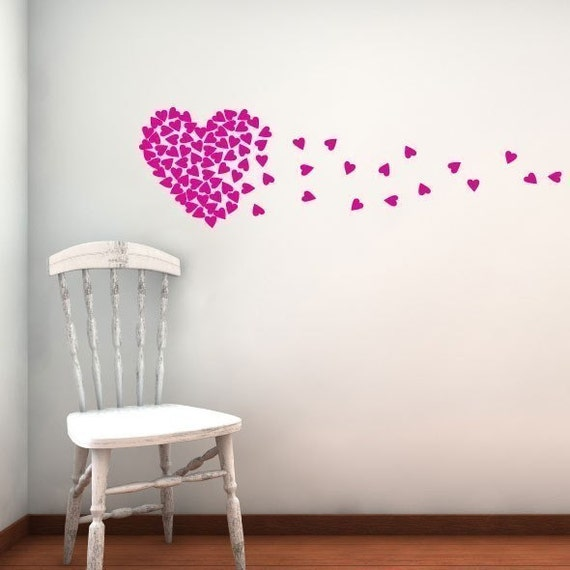 Blown kisses - Vinyl Wall Decal Graphic Art Sticker Home Decor