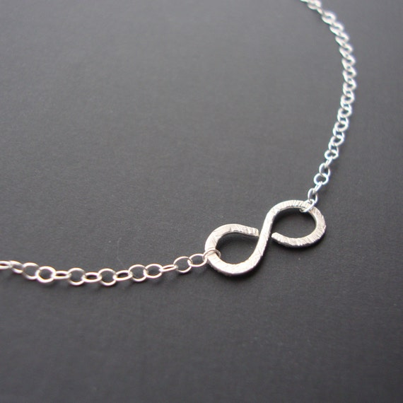 Endless Love - Infinty Layer Necklace - SOLID Sterling Silver