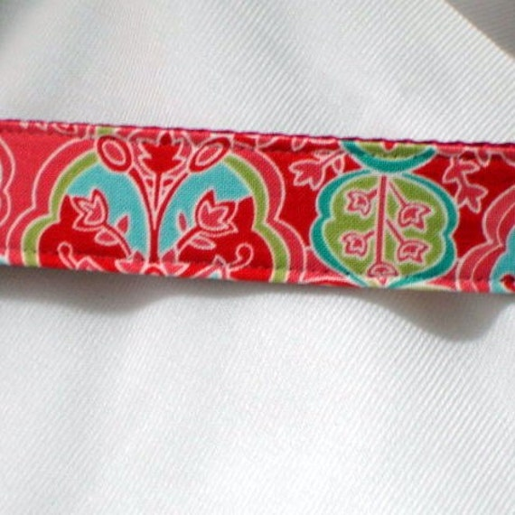 dog collar, summer in the city, 1 inch wide, adjustable, medium to large, ready to ship