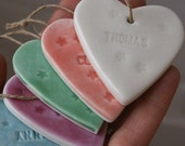 SALE LUCKY DIP, Personalised Porcelain Heart Decoration