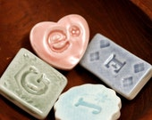 One Porcelain Mosiac Letter Tile, Choose Your Own
