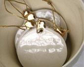 Single Nordic Heirloom Decoration, real gold lustre porcelain