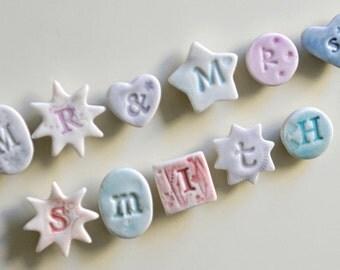 Mr and Mrs Letter Fridge Magnets