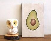 Avocado Half - Original 5x7 Painting