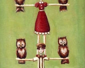 Molly and Pete's Owl Tree - 8x10 Print