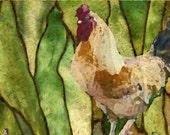 Rooster Digital Art postcard