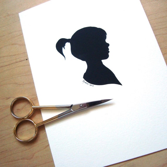 custom silhouette portrait papercutting-- Reserved for Ruud