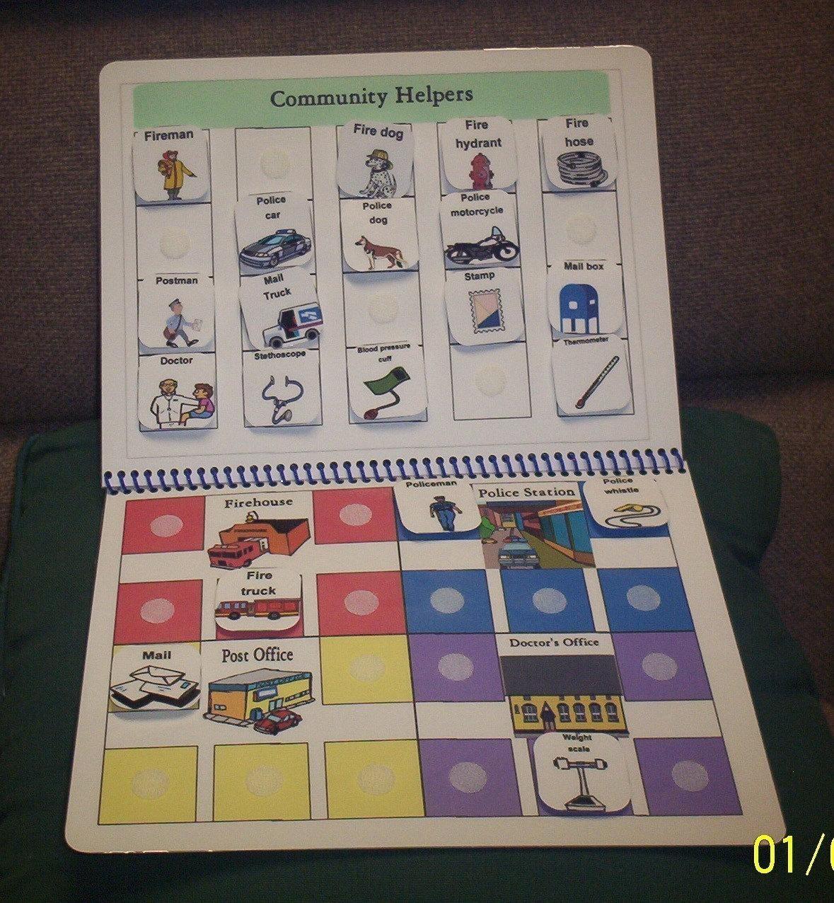 Community Helpers File Folder Autism Pecs Game