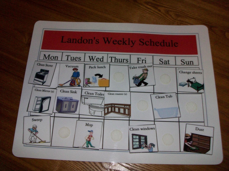 Weekly Autism Pecs Schedule