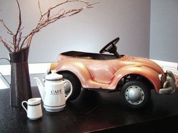 Vintage Junior Sportster Ride On Metal Pedal Car