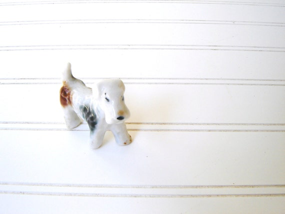 Reserved for firstfig- Scottie Wants to Play- Vintage Porcelain Dogs Set